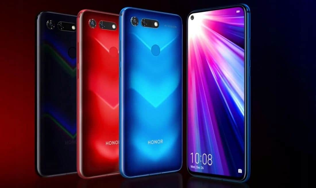 Honor View 20 выпускается, в трёх основных цветах